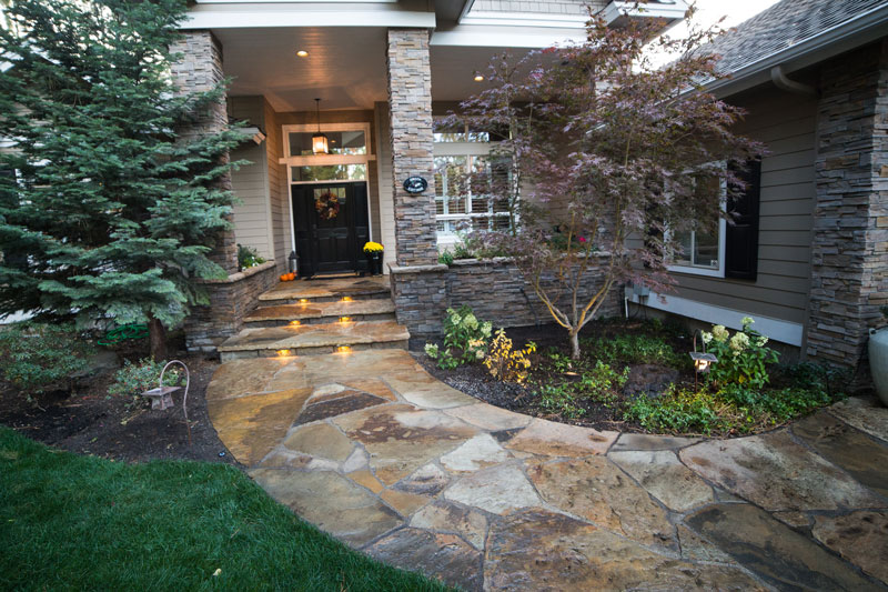 Awbrey Glen Flagstone Entry And Raised Flagstone Patio